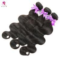 Wholesale Cheap Hair Weave Free Shipping - 7A Cheap Peruvian Hair Bundles 100 Percent Human Hair Unprocessed Virgin Remy Hair Products Black Body Weave Free Shipping