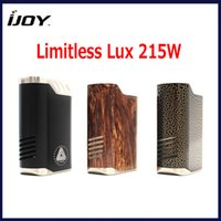 Wholesale Authentic iJoy Limitless Lux W TC Mod Dual Box Mod Variable Temperature Control System Interchangeable Sleeve genuine
