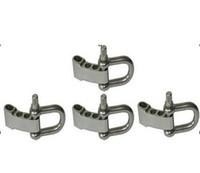 Wholesale Stainless Steel U shackle Adjustable Paracord Shackle Cord Bracelet Shackles