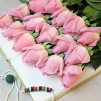 Wholesale quot H Modern Colors PU Rose Buds Decorative Simulation Flowers home decoration Valentine s Gift