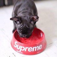 melamine dog bowl - Red or Black Supremed BOX LOGO Dog Bowl melamine dog dish dog Bowl spot Organizer Bowl