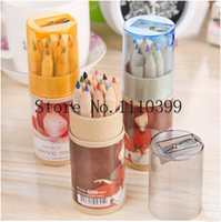 Wholesale set Girl Painting Stationary school Supplies lapis de cor Colors Drawing Writing Wooden color Pencils