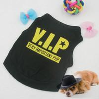 Pet Собака щенок черный Бленда хлопка футболку VIP Pattern жилет Тедди Одежда свободная перевозка груза