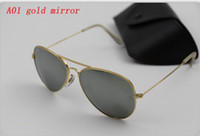 Wholesale Hot mm mm Men s Women s Metal Sunglasses Designer Sun glass Beach Sunglass UV400 Glass Lens