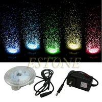 Wholesale Colorful UFO LED Light Aquarium Fish Tank Underwater Submersible Sparkling Lamp Y102