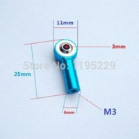 ball rod ends - 16pcs Aluminum M3 Link Rod End Ball Joint for RC Car Truck Buggy Crawler joint boot