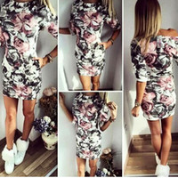 animal print cocktail dress - Fashion Hot Sale Women Summer Floral Half Sleeve Bandage Bodycon Evening Sexy Party Cocktail Mini Dress S XL Full Flower Printing CL01081