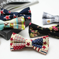Wholesale Hot Style Linen Men s Bow Ties Fashion Wedding Gravatas For Groom Butterfly