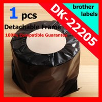 Wholesale x Rolls Brother Compatible Labels DK dk dk22205 mmx m Continuous Labels adhesive sticker