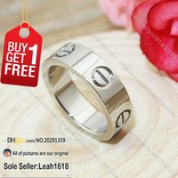 Wholesale Love Series Rings White Gold New Version Fashion Jewelry Brand Gifts For Women Men With Box Set