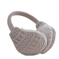 Wholesale Solid Knitted Thermal Earmuff Unisex Men Women Earmuffs Lovers Plush Ear Muffs Winter Warm Washable Knitted Earmuff