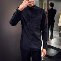Wholesale New arrival autumn solid color long sleeve shirt men sim fit oxford casual men shirts chemise homme men s clothing CS161