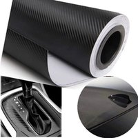 Wholesale cmX30cm D Carbon Fiber Vinyl Film Car Accessories Motorcycle Carbon Fibre Car Wrap Sheet Roll Film Sticker Decal Car Styling
