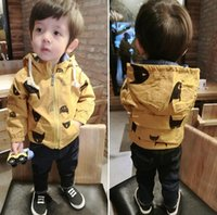 Wholesale 2016 New Autumn Winter Baby Boys Coat Kids Cartoon Long Sleeve Hooded Tops Outerwear Coats Children Cardigan Jackets