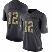 Wholesale Mens Indianapolis Andrew Luck Green Anthracite Salute to Service Football Jerseys Stitched Name Number and Logos