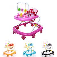 activity walker - New Arrival Baby Walker Rollover Prevention Infant Portable Strollers Toddler First Steps Musical Activity Toys Colors JN0073