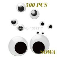 Wholesale mix Size mm Round Moving Eyes Plastic Eyes For Doll Toy Accessories