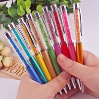 Wholesale Factory sell your logo colorful crystal ball pen for gift colorful metal ball pen with crystal