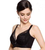 ambrielle bra - New Fashion Women Push Up Lace Plus Size B C D E F Cup Bra Sexy Brassiere Ambrielle Cotton Underwear Skin Black Color