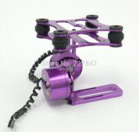 Wholesale DJI Phantom Gopro CNC Metal Brushless Camera Gimbal Frame purple W Brushless Motors frame code