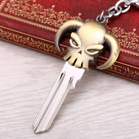 ace skeleton - Key Chain Anime One Piece Bronze Metal Keychain Ace Skull Logo Chaveiro Blank Key and Key Ring