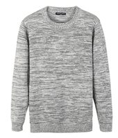 Wholesale Men s Pullover Eco Fleece Sweatshirt Jumper Strikes With a Crew neck Knitted Sweater Fine Merino Pullover Sweater Warm Soft
