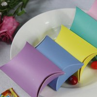 anti gift boxes - New Halloween paper Pillow candy box for Wedding Christmas fashion Candy colors gift box C1288