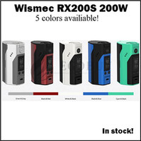 Wholesale 100 authentic Wismec Reuleaux rx200s w TC box mod Reuleaux rx200 s batteries mods VS DNA200 snowwolf kbox rx H priv vtbox200