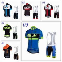 Wholesale 2016 Pro Team ALE Cycling Jersey Short Sleeve Clothings Bib Shorts Set Cycling Wear Maillot Bike Bicycle Cloths XS XL Styles For Choice