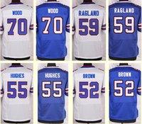 Wholesale 2016 New Men s Eric Wood Jerry Hughes Preston Brown Reggie Ragland White Blue Top Quality jerseys Drop Shipping