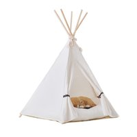 Wholesale New pure white color Dog Bed Dog House Pet play House play teepee tent dog play bed with cushion