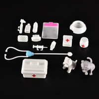 baby medical supplies - One Set Doll Accessories Toy medical kit Supplies Doll Pet Toys For barbie doll Baby Toys Christmas gift Doll House Decoration