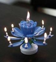amazing musicals - New Amazing Romantic Musical Lotus Rotating Happy Birthday Candle