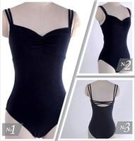 Wholesale Brand Quality Adult Women Black Royal Blue Sleeveless Double Straps Hollow BACK Ballet Dance Leotard Camisole Dancewear Costume