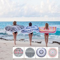 Wholesale Round Towel Round Beach Towel Cotton Round Tassel Beach Towel Adult Beach Towel in Serviette Ronde Toalla Playa