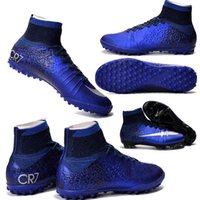 artificial turf soccer - Mercurial Superfly CR7 SG PRO Adult Children s Artificial Turf High Ankle Soccer Shoes Natural Turf Kids CR7 Soccer Cleats