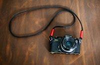 all'ingrosso camera leica-stile B Rosso nero 8 millimetri superiore addensare tracolla collo telecamera a mano per Leica