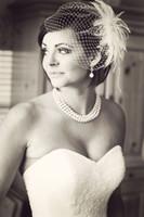 Wholesale Vintage Bridal Veil with Hair Clip Mesh Birdcage Veil Bohemia Short Veils for Bride Wedding Accessories TS0003