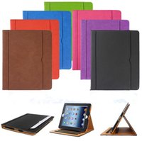 Wholesale For iPad Pro Tan Leather Wallet Stand Flip Case Smart Cover for iPad Air Air2 Air3 Mini