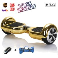 Wholesale 2 Wheel Self Balancing Electric Scooters inch Chrome Gold Hoverboard Oxboard Hover Boards Smart Wheel Drift Adult Motorized