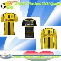 Wholesale Thai Away Home football jerseys Shirt Dortmund REUS RAMOS AUBAMEYANG MKHITARYAN KAGAWA GUNDOGAN SCHMELZER SAH soccer Jerseys