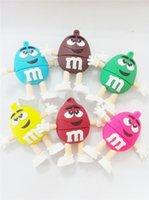 animal usb sticks - 1pcs silicone cute chocolate bean M cartoon GB GB GB GB GB USB flash drvie Memory Stick usb Flash Pen Drive USB
