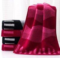 bath linen - Manufacturer towel cotton linen yarn dyed upscale gift couples face towel Lover towel ripple bibulous more soft towels