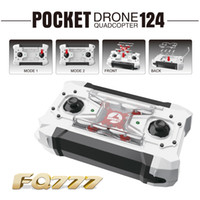 rc uav - 2016 FQ777 Pocket Drone CH Axis Gyro Quadcopter Drones With Switchable Controller One Key To Return RTF UAV RC Helicopter Mini Drones