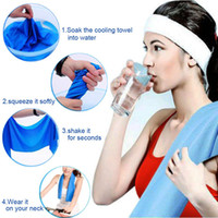 Wholesale 2016 HOT SALE Sports Exercise Sweat Summer Ice Cold Towel New Fashion PVA Hypothermia Cooling Towel YM0122