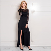 Wholesale 2016 sexy business woman skirt fashion women slim thin sequins lace sleeve split