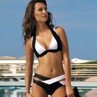 beautiful add - 2016 new Sexy Mixed colors bikini swimsuit ladies Add fertilizer bigger swimwear for beautiful lady