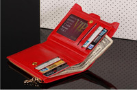 Wholesale 3 Colors With Coin Bag Zipper New Women Wallets Brand Purses Female Thin Wallet Passport Holder ID Card Case