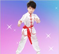 ballet clothes men - Martial arts clothes short sleeved clothes and children s costumes suit costume for boys Kung Fu Wushu team performance clothing sets