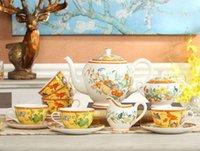 Wholesale tea cup porcelain teapot high end teapot